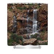 Moonlit Waterfall Shower Curtain
