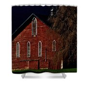 Moonlite 1900 Barn Shower Curtain by Stephanie Calhoun