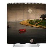 Moonlite Night Shower Curtain