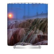 Moonrise At Mammoth Shower Curtain