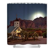 Moonrise At Superstition Mountain Shower Curtain