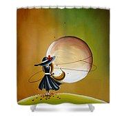 Moonrise Shower Curtain by Cindy Thornton