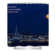 Moonrise - Haiku Shower Curtain