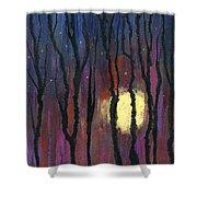 Moonrise In December Shower Curtain