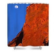 Moonrise In Grand Staircase Escalante Shower Curtain