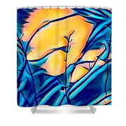 Moonrise In The Branches Shower Curtain