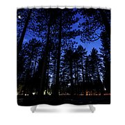 Moonrise In The Woods Shower Curtain by Margaret Pitcher