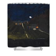 Moonrise On The Road Shower Curtain