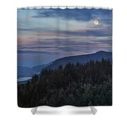 Moonrise Over Crown Point Shower Curtain