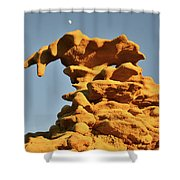 Moonrise Over Fantasy Canyon Hoodoo Shower Curtain