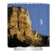 Moonrise Over Grand Canyon Shower Curtain