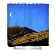 Moonrise Over Queenstown Shower Curtain