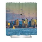 Moonrise Over San Diego Shower Curtain