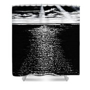 Moonrise Over The Atlantic  Shower Curtain