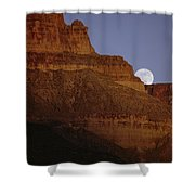 Moonrise Over The Grand Canyon Shower Curtain