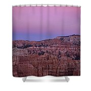 Moonrise Over The Hoodoos Bryce Canyon National Park Utah Shower Curtain