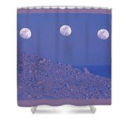 Moons And Dunes Shower Curtain