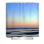 Moon's Arising Shower Curtain