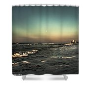 Moons Glow  Shower Curtain by Kim Loftis