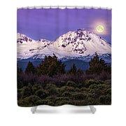 Moonset At Dawn Shower Curtain