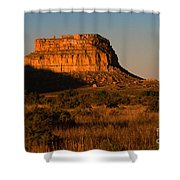 Moonset At Fajada Butte Shower Curtain