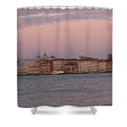 Moonset Over Venice Shower Curtain