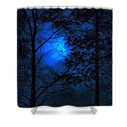 Moonshine 03 Bad Moon Rising Shower Curtain