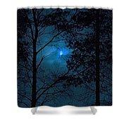 Moonshine 10 Blue Sky Shower Curtain