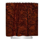 Moonshine 11 Red Sky Shower Curtain