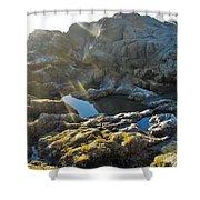 Moonstone Rock Shower Curtain