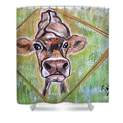 Moooo Shower Curtain