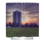 Moor Tower Sunset Shower Curtain