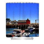 Moored Boats Shower Curtain