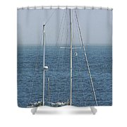 Moored In Matanzas Bay Shower Curtain