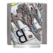 Moored Shift Colors Shower Curtain