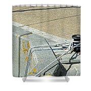 Mooring Ropes - Ryde Harbour Shower Curtain