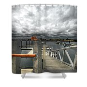 Moorings Shower Curtain