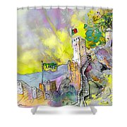 Moorish Castle In Sintra 01 Shower Curtain