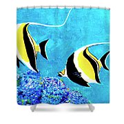 Moorish Idol Fish  #50 Shower Curtain
