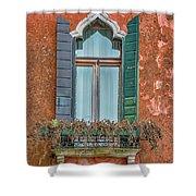 Moorish Window And Texture Venice_dsc5350_03052017 Shower Curtain