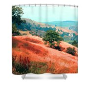 Moorland Hillside  Shower Curtain