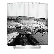 Moorland In The Snow Shower Curtain