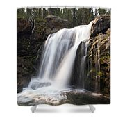 Moose Falls Yellowstone National Park Shower Curtain