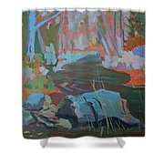 Moose Lips Brook Shower Curtain