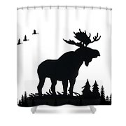 Moose Nature Shower Curtain