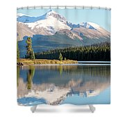 Moose On The Lake Shower Curtain