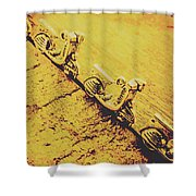 Moped Parking Lot Shower Curtain