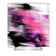 Moped Rider Shower Curtain