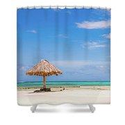 Mopion Island Shower Curtain