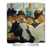 Mora Morning News C1912 Shower Curtain